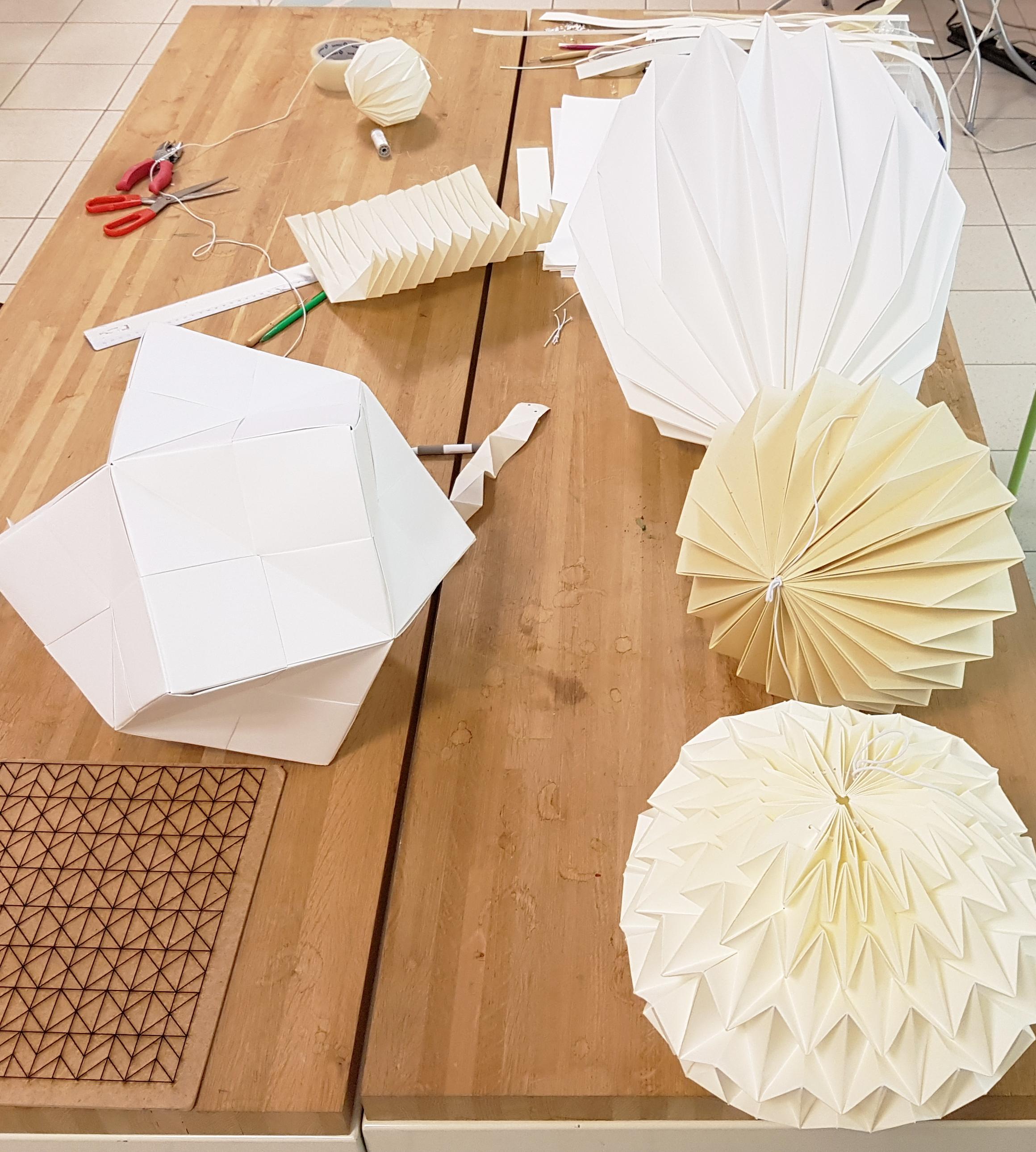 you do luminaire origami design en papier. Black Bedroom Furniture Sets. Home Design Ideas