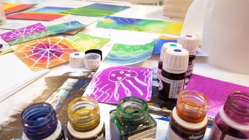 Atelier Peinture à l'encre pour enfants et ados© Les Ateliers YouDo