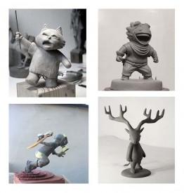 Sculpture d'un personnage en pâte polymère© Les Ateliers YouDo