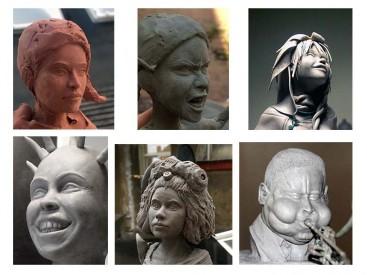 Atelier de sculpture d'un portrait© Les Ateliers YouDo